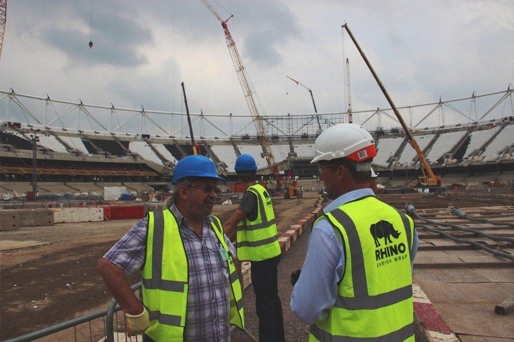 on site at Olympic stadium