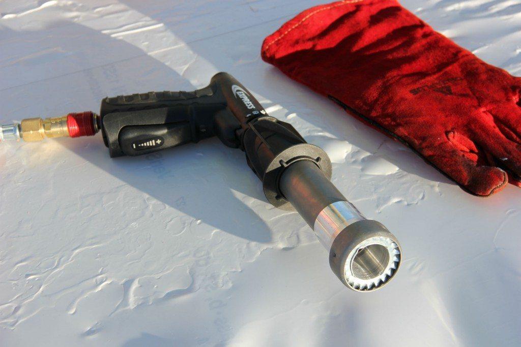 shrink wrap heat gun and gloves