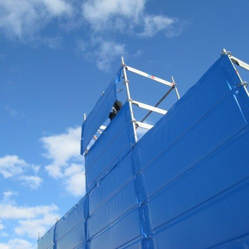 construction noise barrier for scaffolding