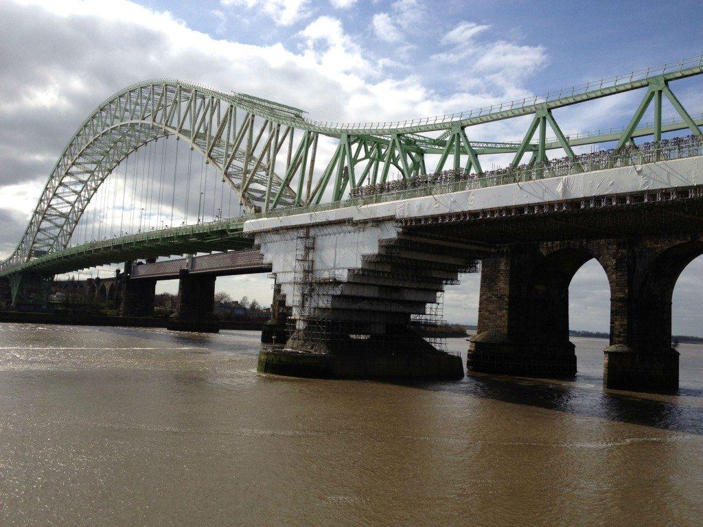 scaffolding shrink wrap bridge