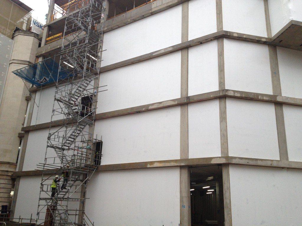 shrink wrap building screen