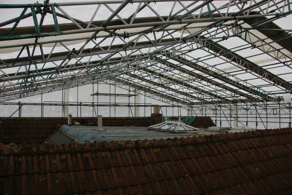 shrink wrap roof underneath