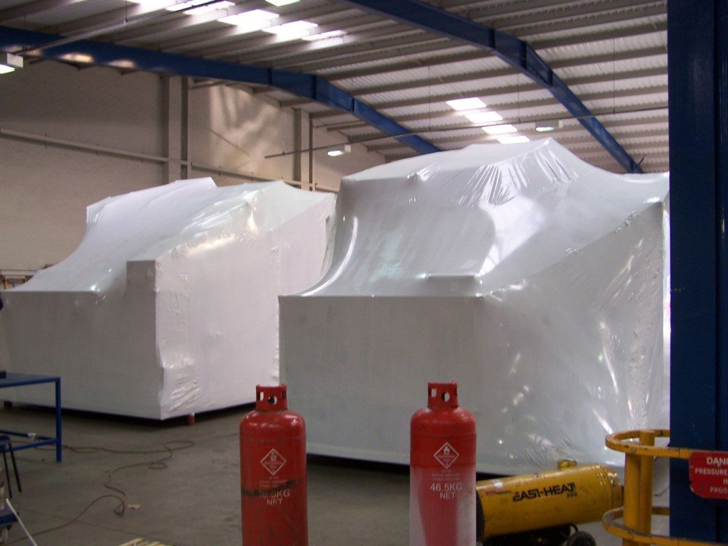 tight fitting shrinkable industrial sheeting