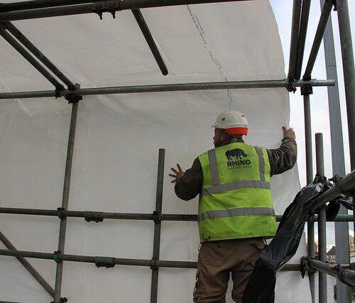 positioning scaffold sheet