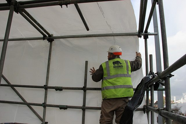 positioning scaffold sheet