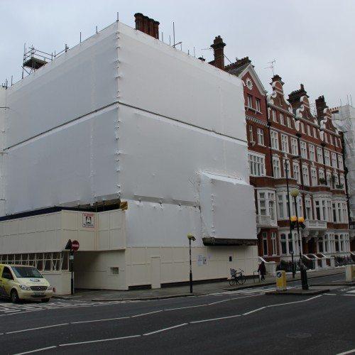 Shrink wrap versus regular scaffold sheeting