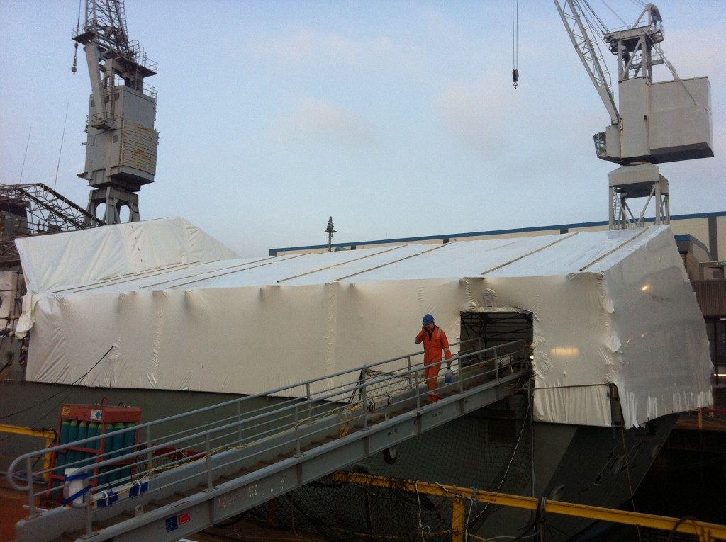shipyard encapsulation sheeting