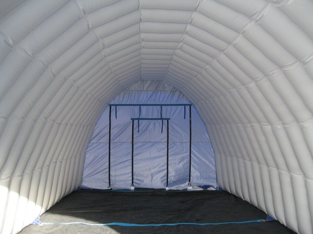 winter construction tent; inflatable work tent inside ... & Winter Construction Tent - Rhino Shrink Wrap