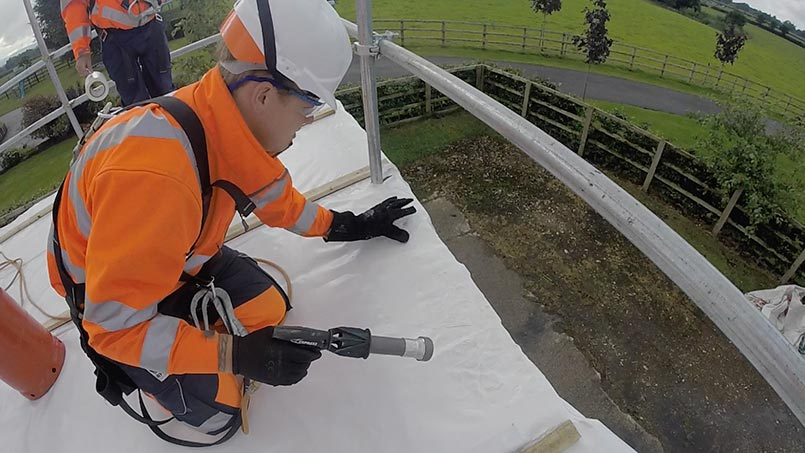 training for scaffold shrink wrapping