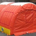 winter construction tent