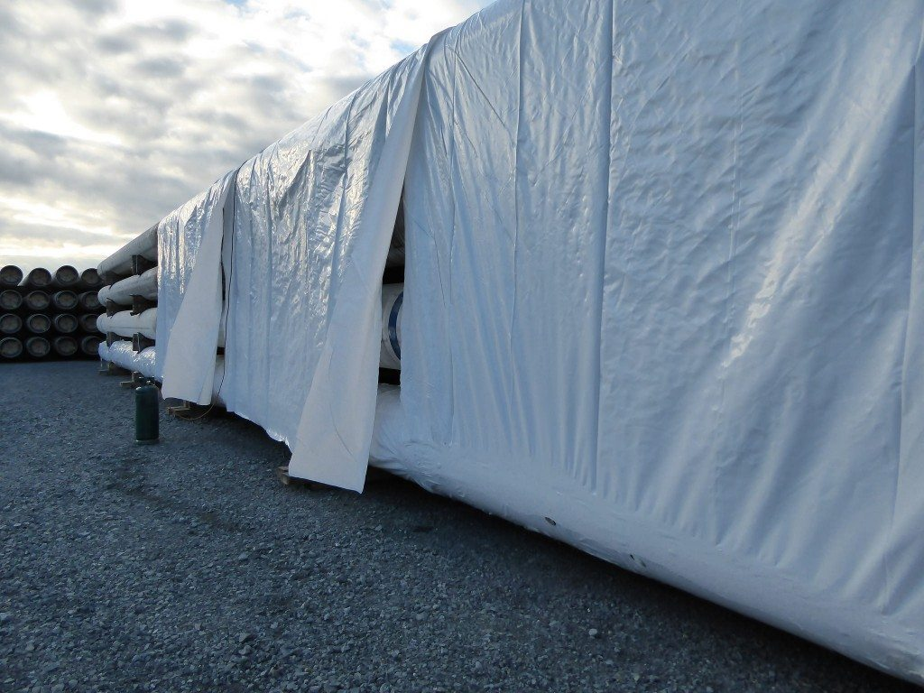 6m wide strips of shrink wrap sheeting