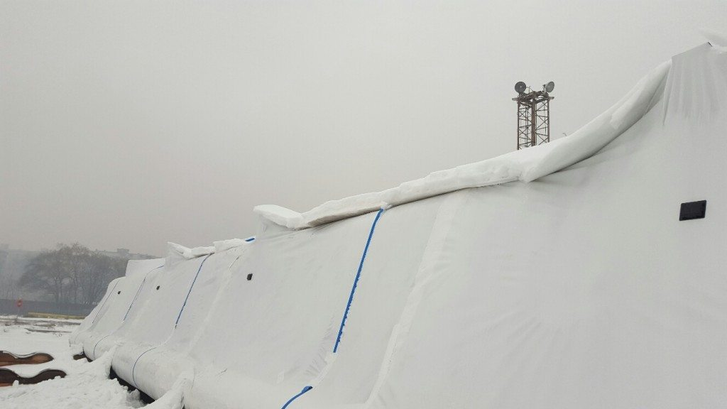 shrink wrap cover after snow