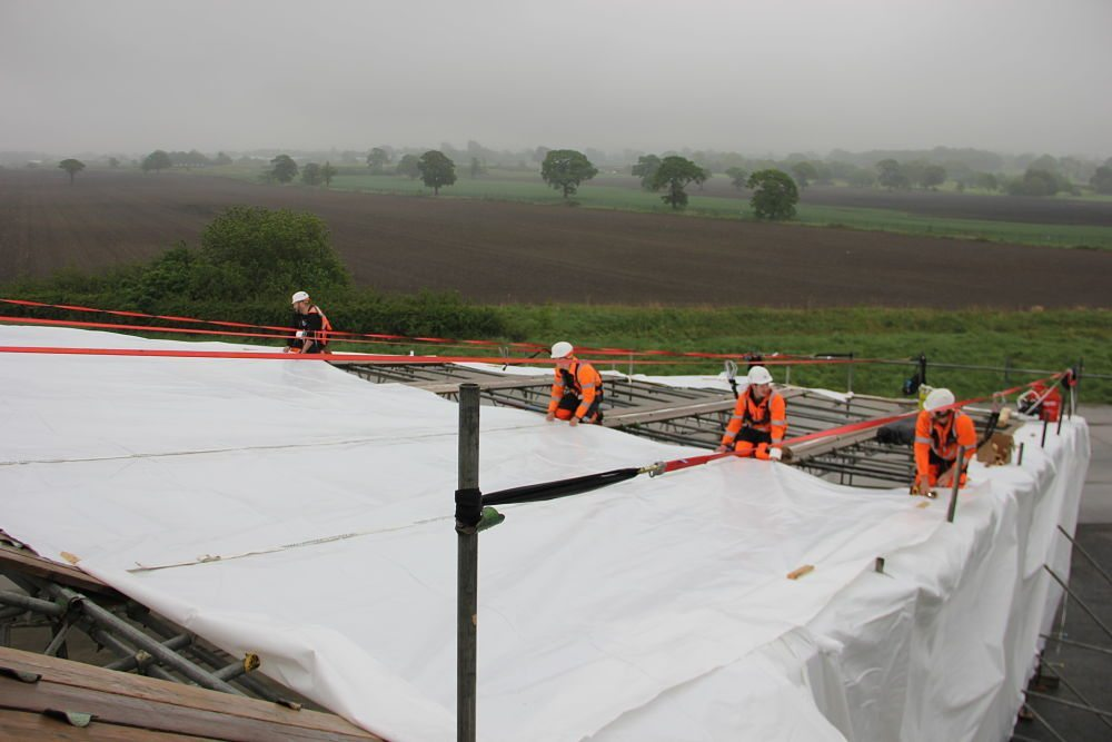 shrink wrap roof installation manchester