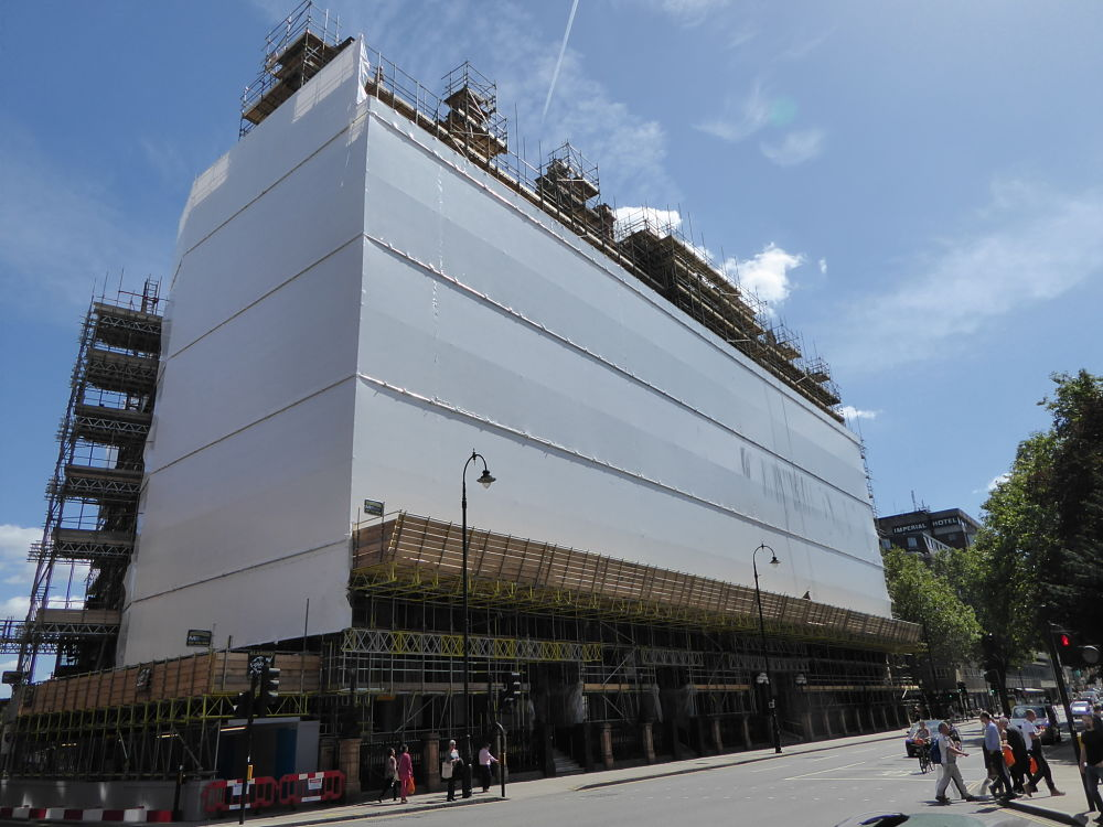 scaffold shrink wrap russell square london