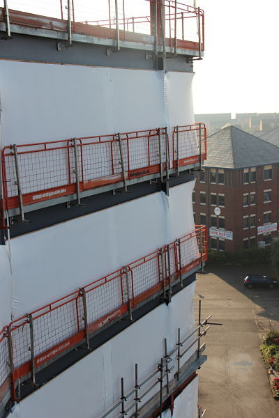 temporary high rise sheeting external