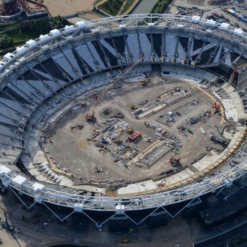 Multiple Shrink Wrap Habitats - London Olympic Stadium