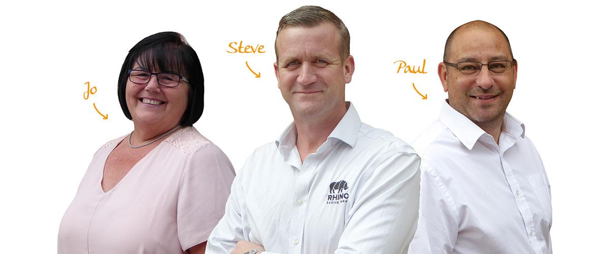 Jo, Steve, Paul