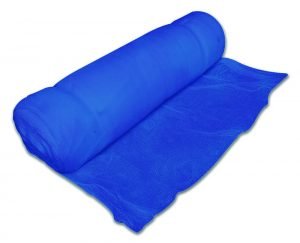 Roll of blue debris netting