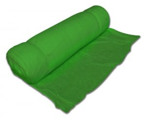Roll of green debris netting