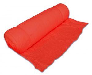 Roll of red debris netting