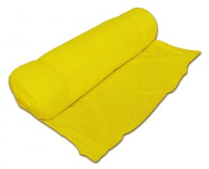 Roll of yellow debris netting