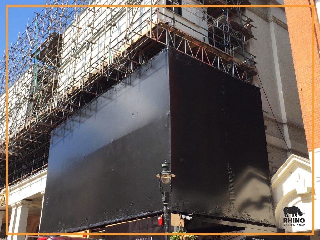 Drury Lane Theatre Renovation Black Shrink Wrap Image